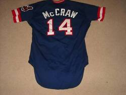 Tommy Mccraw Game Worn Jersey 1980 Cleveland Indians