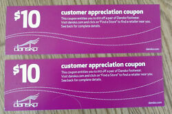 Dansko Shoes Coupons For 20 Off One Pair - Customer Appreciation Coupons