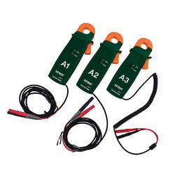 Extech Pq34-2 200a Current Clamp Probes Set Of 3 Clamp Probes W/ 0.8