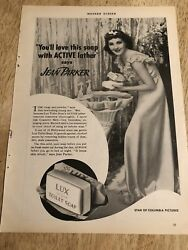 Jean Parker For Lux Soap / Southern Pacific - Vintage 1937 Magazine Ads 2-sided