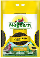 Wagners Nyjer Seed Wild Bird Food Gold House Finch Songbird Outdoor Seeds 20 Lb