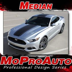 2015 Ford Mustang Snake Wide Center Hood Racing Stripes 3m Vinyl Graphic Decal Z