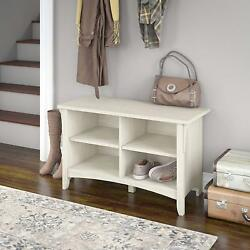 Shoe Storage Bench Antique White Top Entryway Living Room Hallway Wood Furniture