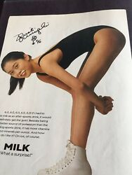 26 Autographed Milk Mustache Advertisements Including The Late Larry King