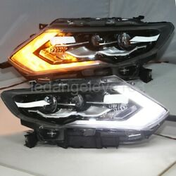 For NISSAN X-Trail Rogue LED Strip Headlights Front Lamps 2017-2018 Year LD