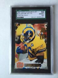 1995 Stadium Club Rams Jerome Bettis 1st Day Issue Card 570 1994 Steelers Hof