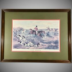 Fox Hunt Lithograph 'the Death' After Painting By William J. Shayer Framed
