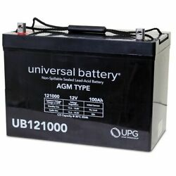 New 12v 100ah Sla Agm Battery Replacement For Presto Lift Counterweight Stackers