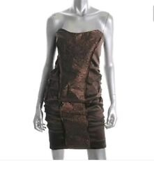 New with tags $385.00Nicole Miller Bronze Evening Cocktail Dress Size 10 $90.00