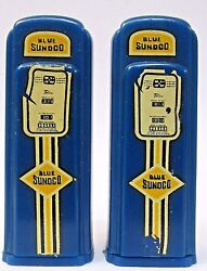 1950's Sunoco Butler Pennsylvania Matched Gas Pump Salt And Pepper Shakers Set