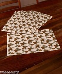 4 Pinecone Pine Cone Dinning Table Placemat Woodland Lodge Cabin Northwood Decor