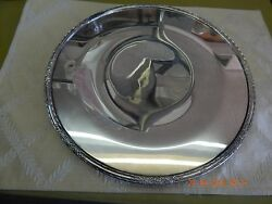 International Silver Camille Footed Cake Plate 6021 Silverplated 12 Round