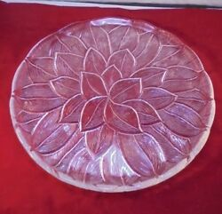 12.5 Clear Pressed Glass Cake / Serving Plate