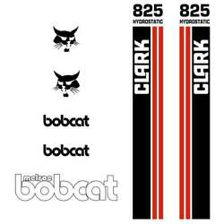 Bobcat Melroe 825 Decals Stickers Skid Steer Loader New Repro Decal Kit