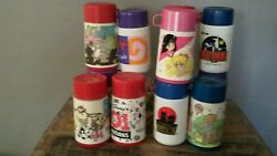 13 Collectible Lunch Box Mixed Lot Thermoses, Aladdin /thermos, 1990 To 2001