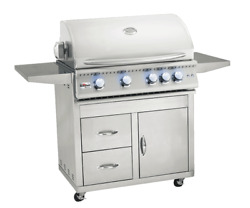 Summerset 32 Sizzler Pro Gas Grill Cart Only -door And Drawer Combo Cartsizpro32