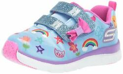 Skechers JUMP LITES Toddler Girls BlueMulti 82140NBLMT Casual Shoes