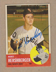 Mike Hershberger Signed 1963 Topps Card 254-chicago White Soxdec