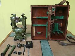 Compass Theodolite Wild T1 Heerbrugg Swiss Surveyor. Astronomic Diagonal Eyep