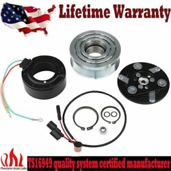A/c Ac Air Compressor Clutch Pulley Bearing Coil Plate For Honda Civic 06-11 1.8