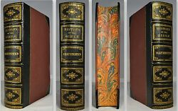 1868 Illustrated History Of Holy Bible Kitto Color Map Chronological Table Fine