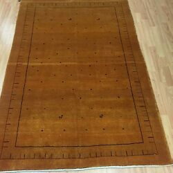 4and039 X 6and039 New Fine Indian Tribal Oriental Rug - Hand Made - 100 Wool - Veg Dye