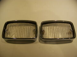 1970 71 72 Plymouth Duster Valiant Turn Signal Lenses And Bezels 3679226 Oem