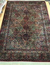 8and0398 X 12and039 Karastan Floral Panel Design Oriental Rug - Full Pile - Made In Usa