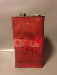 A Vintage Mobil Delvac Oil Can Rare Red Flying Horse Collectable