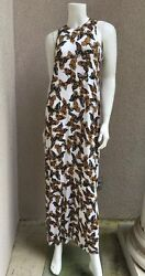 Nwt Andreson Woman Maxi Dress Size Small Butterfly Pattern Maxi Stretch T-shirt