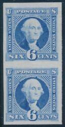 115p3 6c 1869 Vertical Pair Plate Proof On India Vf+ Bu8212