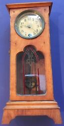 Unique Antique Tabletop Grandfather Clock Made In Wurttemberg, Germany