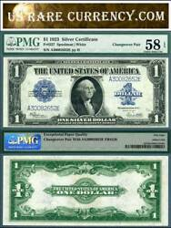 1923 1 Silver Certificates Change Over Pair Fr-237 Fr-238 Pmg Graded