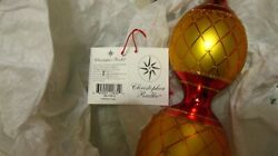 Vintage Rare Christopher Radko Tiered Tree Topper Gold And Red 1999 Faberge