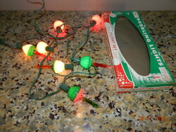 Christmas Vintage Bubble Bubbling Lights Acla Light Set Of 7 With Strand Box