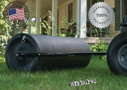 Tow Behind Lawn Roller Yard Grass Care Tractor Attachment Poly Water 550 Lb Usa
