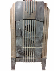 Vintage Athens Stove Wood Furnace Heater Circulator Old Iron 1930and039s Antique