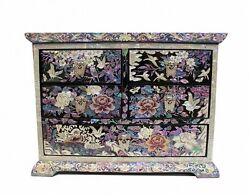 Lacquer Ware Inlaid New Mother Of Pearl Handcrafted Jewelry,jewel Box Gift 2092
