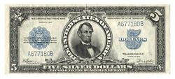 Fr282 1923 5 Porthole Silver Certificate – Large Lincoln Five Dollar Bill