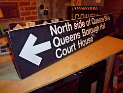NY NYC NEW YORK SUBWAY STATION SIGN QUEENS BOULEVARD BOROUGH HALL COURT HOUSE
