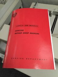 Lancia 2000 Saloon Coupe (Factory) Workshop Concise Manual Repair Service