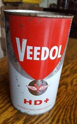 Vintage Advertising Veedol One Imperial Quart Motor Oil Tin Can Empty