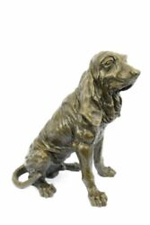 Basset Hound or Bloodhound Bronze Dog Sculpture Statue 14