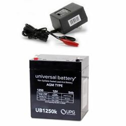 New 12v 5ah Replacement Battery Enersys Np5-12t Genesis Np Series And Charger