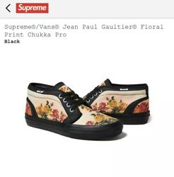 Supreme X X Jean Paul Gaultier Floral Print Chukka Pro Size 8.5 In Hand
