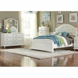 Liberty Furniture Stardust 3 Piece Full Panel Bedroom Set In White