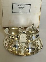 New Antique Epsn Silver Plated Condiment Set Huge Collection Vintage Items Rl