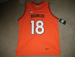 Denver Broncos Basketball Style Jersey 18 Peyton Manning By Nike Sz Small Nwt