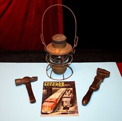 Train Antique Rr Railroad Wrench Hammer Oil Lamp Popular Science Magazine