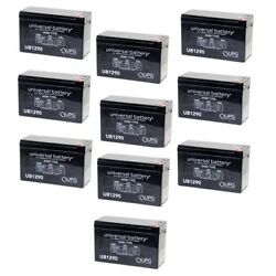 New 10 Pack Upg Ub1290 12v 9ah Sla Replacement Battery For Altronix Al300ulm
